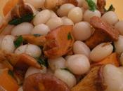 Salade d'automne cocos Paimpol Menthe Girolles persillées