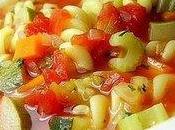 Soupe italienne pâtes légumes