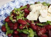 Salade haricots rouges, pois gourmands feta