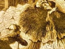 élément mode féminine crinoline