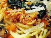 Spaghetti poulet légumes