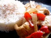 Filets poulet pousses bambou lait coco