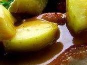 Côtes porc glacées pommes