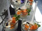 Verrine mascarpone saumon oeufs lompe