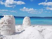 plage plus blanche monde