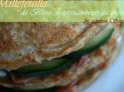 Millefeuilles Blinis topinambours chèvre jambon serrano....