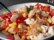 Salade poulet sésame