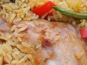 Paella pollo conejo