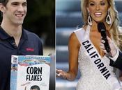 Michael Phelps Miss Californie retrouvés dans bar, enlacés complètement ivres