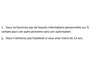 Madame, quel peut-on s'inscrire Facebook
