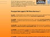 Mise ligne site Internet Titres Services
