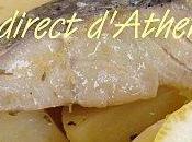 Plat complet Morue pommes terre sauce d'agrumes