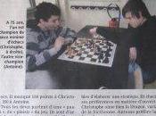 Journal Dimanche parle échecs Saint-Mandé