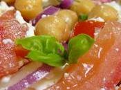 Salata ntomates revithia (salade tomates pois chiches)