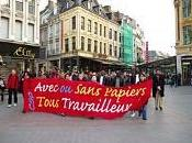 marcheurs sans papiers solidaires sinistres tornade sont accueillis mairies grenay mericourt! arrivent samedi juin lille