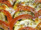 Tian courgettes mozzarella