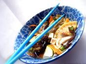 Raviolis vapeurs chinois, sauce soupe asiatique (vegan)