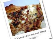 petite variante tarte courgettes chèvre pignons