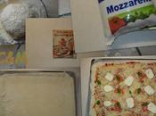 Pizza lardons tomates fromage basilic