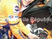 Victor Lahut suivi mauvais motard DÉPART Montoire sait recevoir