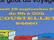 goût voyage, fête livre Coustellet (84) septembre