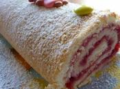 Biscuit roule framboise