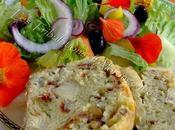 Cake artichauts, pignons, tomates séchées origan