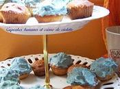 Cupcakes banane crème violette