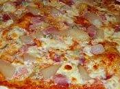 Pizza poires gorgonzola, pâte levain