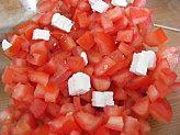 Petite salade tomates feta accents italiens.