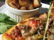 Courgettes farcies viande légumes