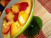 dessert plus rapide ombre Soupe mangue coco, pêche fraises
