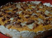 Tarte potiron maroilles d'oignon confit miettes d'épices