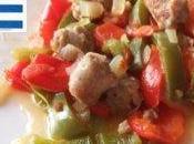 Semaine goût Grèce spetsofai saucisses poivron