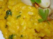 Risotto courge butternut petoncles rotis