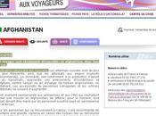 AFGHANISTAN fiche site Ministere Affaires étrangères.