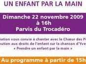 """Flashmob pour l'association enfant main"""" novembre 2009"""