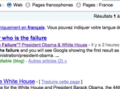 Barack Obama droit Google Bombing avec failure