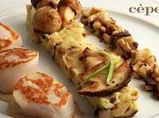 Coquilles saint-jacques l'ecrasée pommes terre cèpes