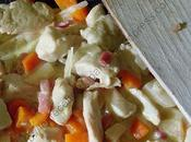Emincé poulet légumes d'automne Sliced chicken with fall vegetables