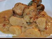 Pilons poulet navets, pommes, oignons cidre