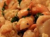 Recette Fêtes: Pâtes Saint Jacques crevettes