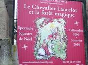 Chevalier Lancelot forêt magique, musée vivant cheval Chantilly