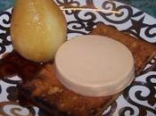 Canapé foie gras poire sauce
