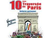 Traversée Paris défilé janvier voitures anciennes