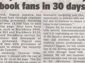 Digicel communique nombre fans facebook