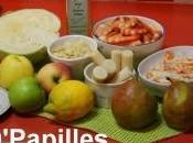 Salade chou blanc, pommes poires