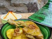 Tajine poulet pommes caramélisées