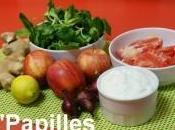 Salade mâche pamplemousse pommes