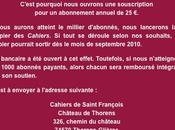 Cahier Saint-François Souscription